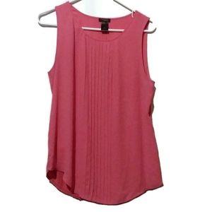 Ann Taylor Pink Sleeveless Top Medium Career Wear